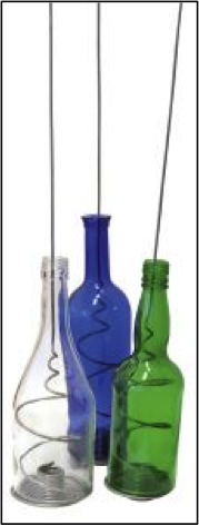 Upcycling is a creative process by which something is given a new lease of life; these funky bottles make great tea-light holders for the patio