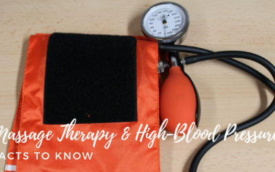 How does massage therapy help lower high blood pressure?